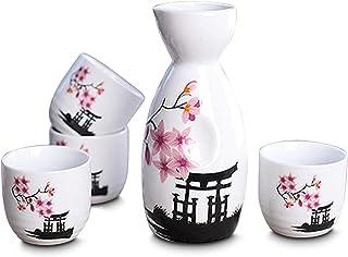 CoreLife Sake-Set, 5-teiliges traditionelles japanisches Sak