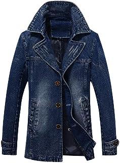 TOPUNDER Winter Warm Danny Jacket Overcoat Outwear Slim Long Trench Buttons Coat Men