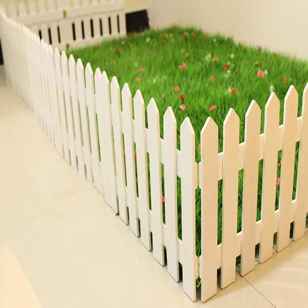 GZHENH 木製ボーダーテンプレート ヒンジリンク インストールが簡単 植物ガードレール バルコニー 画面 安定した 防湿 無垢材 、3サイズ (Color : White-4pcs, Size : 50x25cm)