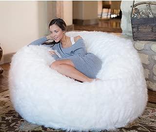 white bean bag chairs