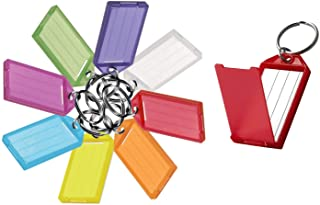 Lucky Line ID Key Tags with Flap and Paper Insert, Assorted, Pack of 10 (605100)