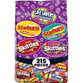 Assorted Wrigley Skittles, Starburst and Life Savers Gummies Halloween Candy Bag, 315 Fun Size Pieces, 99.78 ounce