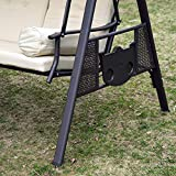 3-Sitzer Hollywoodschaukel Gartenschaukel mit Sonnendach Kissen Metall - 6