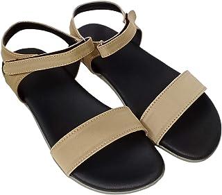 saanvishubh Comfortable Stylish Flat Sandal for Girls and Women