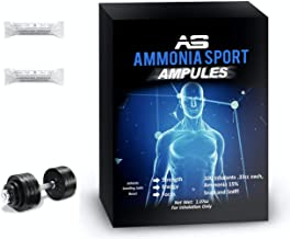 AmmoniaSport Athletic Smelling Salts - Ampules (100) Ammonia Inhalant - Smelling Salts - Powerlifting Smelling Salts - Amm...