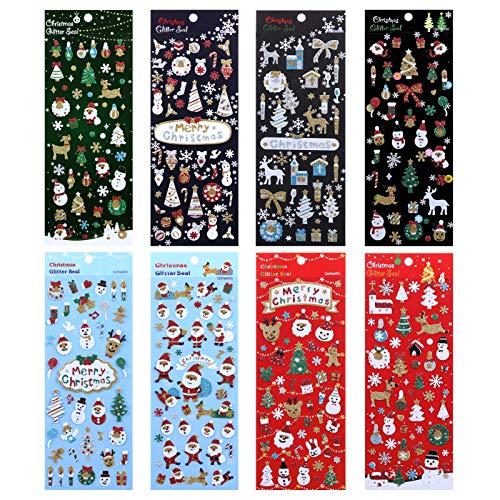 LEMESO クリスマス シール ステッカー クリスマス飾り ギフトシール 手帳シール こども サンタ 雪の結晶 ク...