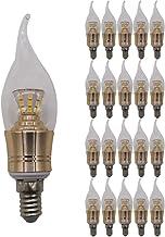 Mengjay 20x E14 Edison-lamp, wolfraamlamp met lange staart, lange gloeilamp met glazen afdekking, 5 W warmwit 2700 K (niet...