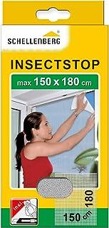 Schellenberg 20403 Nylon Horrengaas, Muggen en Insectengaas Inclusief Bevestigingstape, Bevestiging Zonder te Boren, 150 x...
