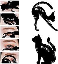 Garden Of Arts Cat Line Eyeliner Stencil, Smoky Eyeshadow Applicators Template Plate, Professional Multifunction Black Cat Shape Eye liner & Eye Shadow Guide Template (PVC Material) (1)