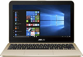 Asus Laptop 11.6 inches LED Convertible Notebook (Gold) - Intel Celeron N4000 2.6 GHz, 4 GB RAM, 1000 GB HDD, Shared, Windows 10 Home