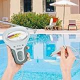 Riiai Probador 2 en 1 calidad del agua pH y nivel de cloro, digital portátil medidor de pH Piscina Spa Instrumento analítico
