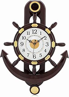 Baal Home Decoration Pendulum Wall Clock for Bedroom for Gifting in Brown Color 50 Gram Pack of 1