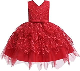 COMISARA Toddler Baby Girls Flower Dress Formal Pagenat Party Tutu Gown Dresses