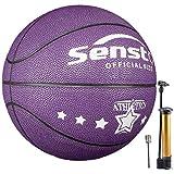 Senston Balon Baloncesto Niños Fluorescente Balon de Baloncesto Pelota Baloncesto de Cuero Sintético de Tamaño 5
