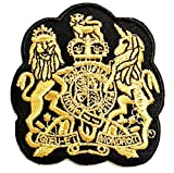PP Patch Gold Lion Unicorn Royal Crown Crest Coat of arms Cartoon Iron On Patches Sticker Embroidery Badges for Sewing Kids Clothing Backpacks T-Shirt Jeans Hat Bag Reward Gift