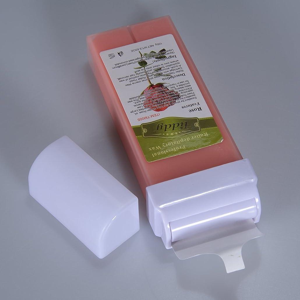 Metermall 脱毛プロフェッショナル使用水溶性脱毛砂糖ワックスカートリッジワックスグッドスメル - 100g / 3.53oz 100g rose