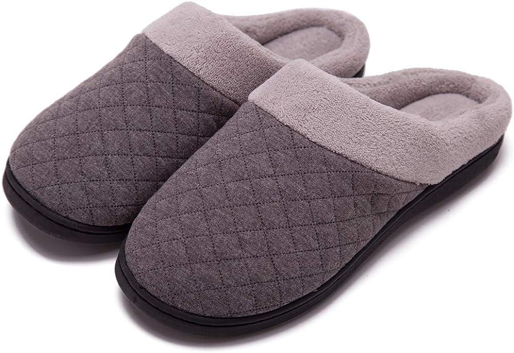 Women's Cozy Memory Foam Attention brand Manufacturer OFFicial shop Slippers Fuzzy Plush Wool-Like Fleece L