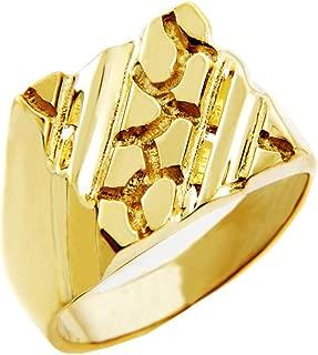Nugget Rings Men's 10k Gold The Apex