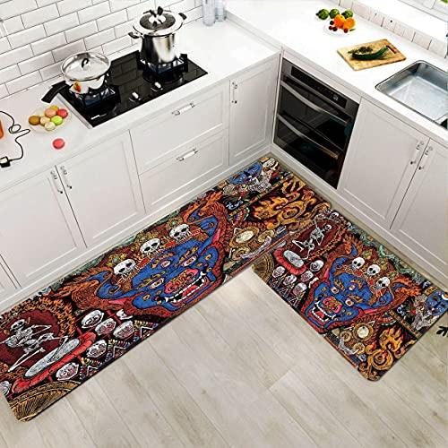 OPLJ Alfombrillas absorbentes de Cocina, decoración del hogar, Sala de Estar, alfombras de Entrada para el Dormitorio, alfombras Lavables...