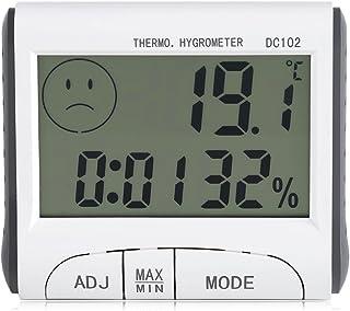 Garosa Higrómetro Digital LCD, Mini Termómetro para Interiores y Exteriores con Indicador de Humedad de Temperatura o Sala...