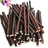 ZHOUBA, rami/Bastoni per masticare per piccoli animali domestici, naturale, Giocattolo in legno per conigli/criceto/Cavia
