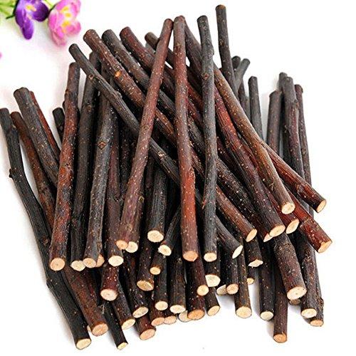 ZHOUBA Bâtons à mâcher en bois naturel pour petits animaux de compagnie, lapin, hamster, cochon d'Inde