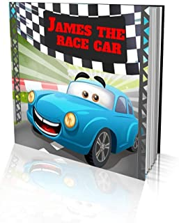 """Personalized Storybook by Dinkleboo -""""The Race Car"""" - for Kids Aged 2 to 8 Years Old - A Story About Your Child Wanting to..."""