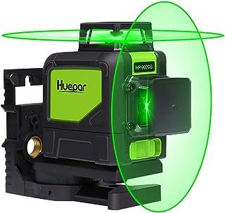 Huepar 902CG Self-Leveling 360-Degree Cross Line Laser Level with Pulse Mode, Switchable..