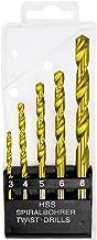 Jogo De Brocas De Aço Rapido Para Metal, 3 4 5 6 8 Mm Mtx