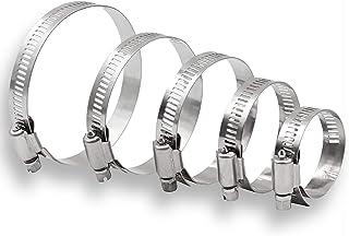 Juego de 2 abrazaderas ajustables de acero inoxidable para manguera 140-160 mm, 2 unidades