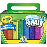 Crayola 48ct Sidewalk Chalk, 48 Assorted Crayola Colors, 2 Pack