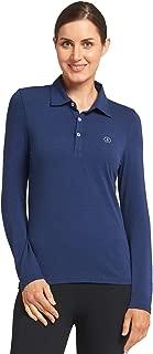 Solbari UPF 50+ Women's Sun Protection Long Sleeve Polo Shirt - UV Protection, Sun Protective