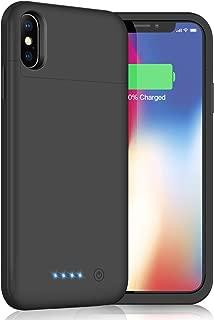iPhoneX/XS/10 対応 バッテリー内蔵ケース 5200mAh バッテリーケース 薄型 軽量 大容量 充電ケース 急速充電 コードレス iPhoneX/XS/10 対応 ケース型バッテリー