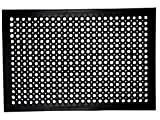Iron Gate - 2 Piece Anti-Fatigue Anti-Skid Ramp Restaurant Drainage Mat - 100% Solid Rubber - Size 24x36 Inch- Heavy Duty Rugged Commercial Professional Grade Construction
