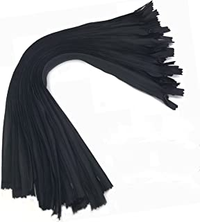 25PCS Nylon Invisible Zipper,DIY Sewing Zippers for Handmade Garment/Bags/Home Textile,Tailor Sewer Crafter's Special(18 inch, Black)