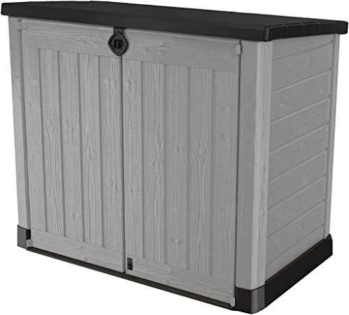 Keter Store-It-Out Ace 4.75 x 2.7 Foot Resin Outdoor Storage Shed with Easy Lift Hinges, Perfect for Trash Cans, Yard...