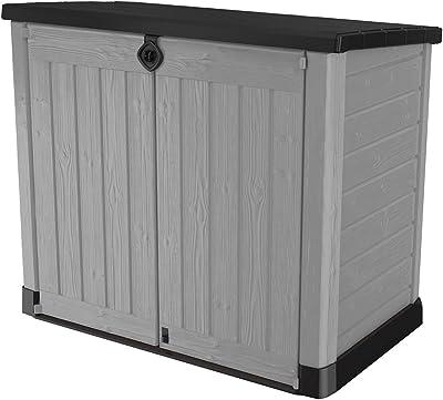 Amazon Com Leisure Season Rss2001 Horizontal Refuse Storage Shed Brown Trash Shed Garden