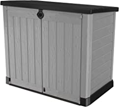 Keter 245009 Store-It-Out Ace Resin Outdoor Storage Shed 39 Cubic Foot, Grey