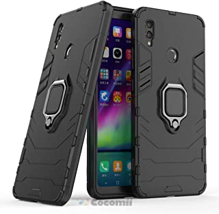 Cocomii Black Panther Armor Huawei Honor Note 10 Case NEW [Heavy Duty] Tactical Metal Ring Grip Kickstand Shockproof Bumper [Works With Magnetic Car Mount] Cover for Huawei Honor Note 10 (B.Jet Black)
