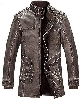 Baarly Men's Coat Warm Jacket Leather Jacket