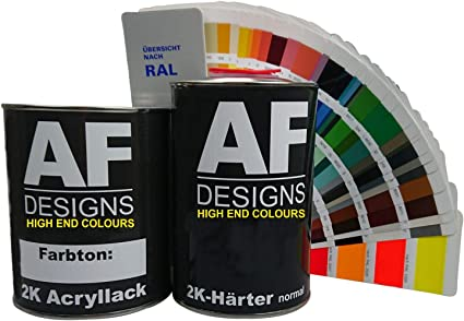 Alex Flittner Designs 2k Acryl Lack Autolack 4 5 Kg Set Ral 9010 Reinweiss Glänzend Incl Härter Auto