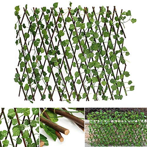 ZIEO Fence/Wall Jardin Patio Jardin Expandable Artificiel Ivy Feuille clôture Décorations écran for la Maison Turf Fence (Color : Natural, Size : Ones)