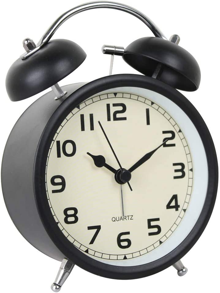 Time Vanguard Retro Double Bell Bedside Silent Non-T Alarm Clock Direct stock discount Large-scale sale