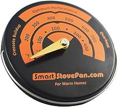 Baoblaze Termómetro de Estufa magnética medidor de Temperatura del Horno para Estufa de leña Estufas de Gas Estufas de pellets Estufa Evitar Ventilador de