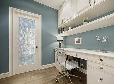 SANS Soucie - / Interior Door - Water Trails - 1D Negative Frosted - Patterns / Primed