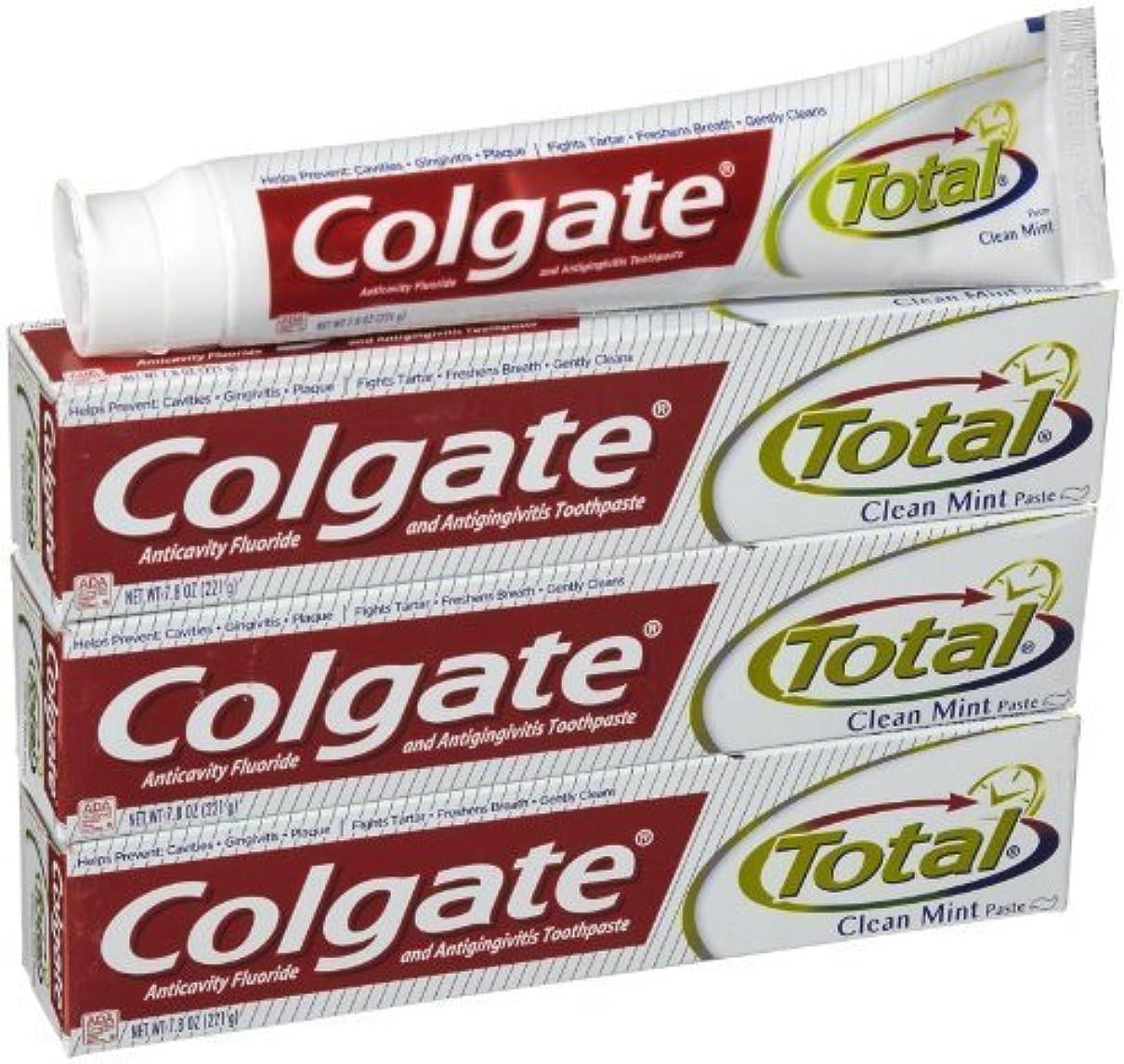 中古分析する農業コルゲート クリーンミント 歯磨き粉 7.8OZ-3個 Colgate Total Original Toothpast Clean mint