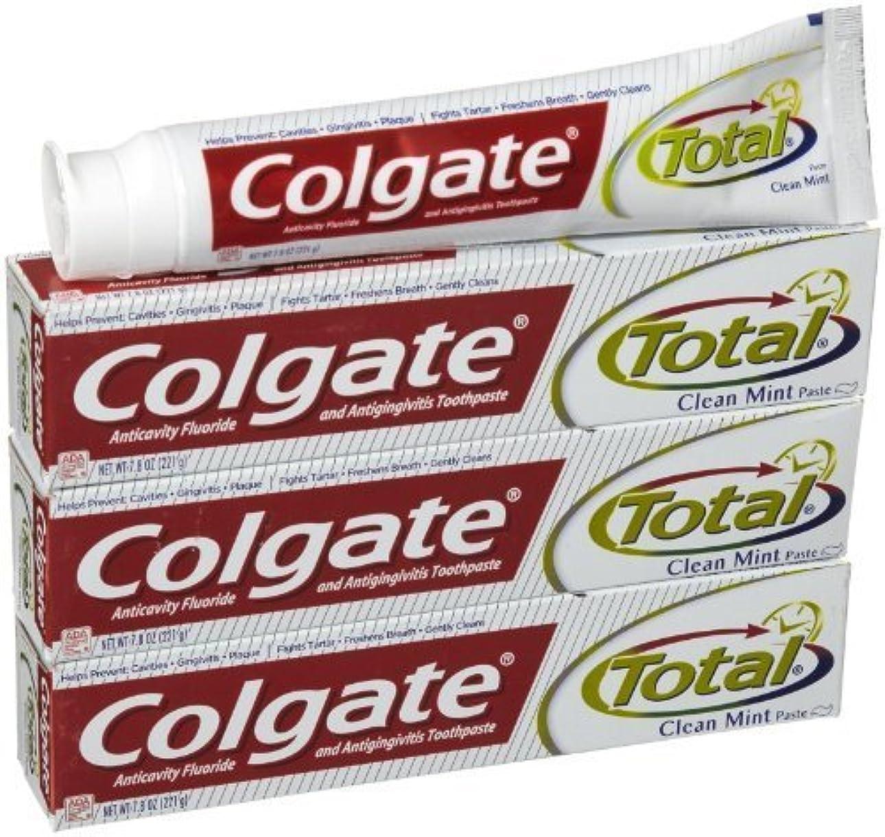 スキャンブリリアントアシュリータファーマンコルゲート クリーンミント 歯磨き粉 7.8OZ-3個 Colgate Total Original Toothpast Clean mint