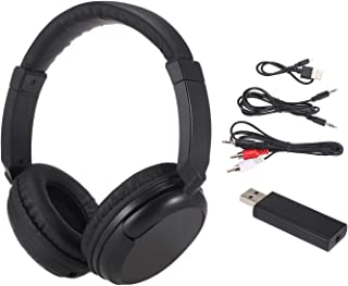 KKmoon Fones de ouvido sem fio FM Fones de ouvido de música com transmissor 3,5 mm e suporte para fone de ouvido com fio R...