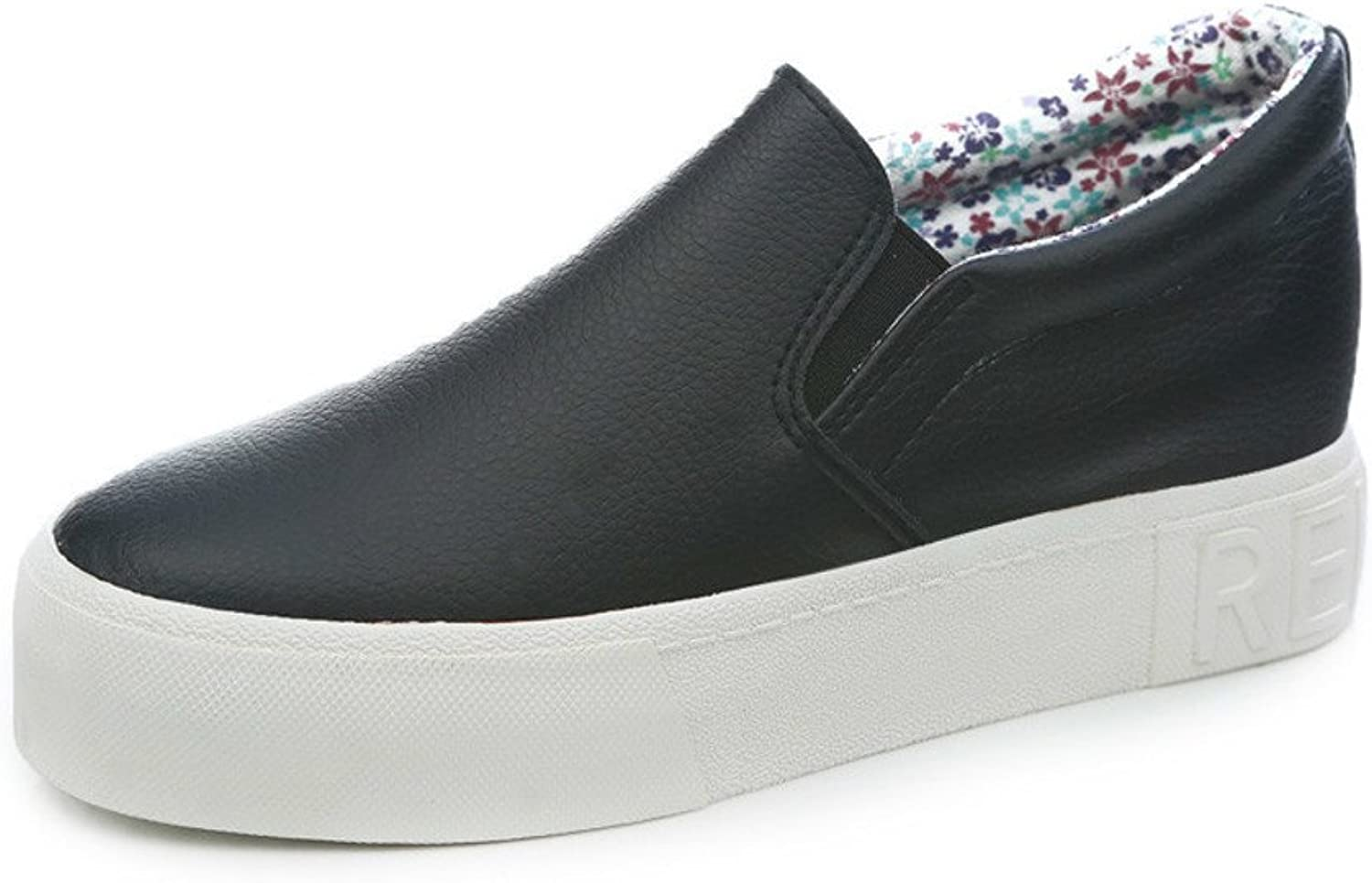 WLJSLLZYQ Summer Cake with Thick end of Lok Fu shoes Micro Fiber one Pedal Students Flat Casual shoes