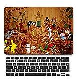 GangdaoCase Plástico Ultra Delgado Ligero Estuche RígidoDiseño Cortado Compatible 2020 Nuevo MacBook Air 13 Pulgadas con Retina Pantalla Touch ID con UK Cubierta Teclado A2179 (Cartoon A 44)